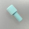 "Flangeless Nut, Delrin, blue, f. 1/8"" tubing"