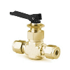 "Toggle Valve, straight, 1/4"", Brass"