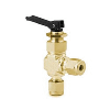 "Toggle Valve, angle, 1/4"", brass"
