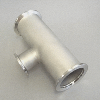 KF Reducer Tee DN 50/50/40, stainl. steel