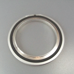 Trapped Cent. Ring w. O-Ring stainl./Viton DN 63