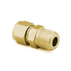 "Male Connector 1/8"" tube - 1/4"" NPT, Brass"