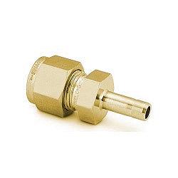 "Reducer 1/4"" tube - 1/8"" stub, Brass"