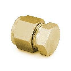 """Cap 1/4"""", Brass"""