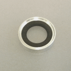 KF Trapped Cent. Ring w O-Ring Alu/Viton DN 20-25