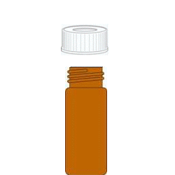 Screw cap vials compl. amber, 32x11.5mm, Set=100