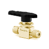 "On-Off (2way) ball valve, 1/4"", Brass"