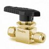 Ball Valve Brass 1-Piece 40Series,0.6Cv, 6mm Tube Swagelok®