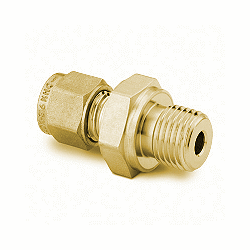 "Male Connector 6mm tube - 1/4"" ISO, Brass"