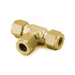 Union Tee, 6mm, Brass