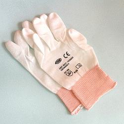 PU-coated nylon gloves, white, size 6(XS), 12 pcs