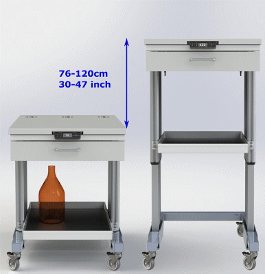 Pneumatic Table for GC or HPLC