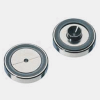 0.8mm ID Vespel ring inlet seal, stainl. steel, Set=10