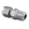 "Male Connector, 1/8""Tube x 3/8""Male ISO, Stainl. Steel"