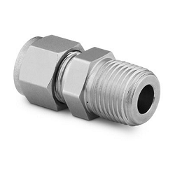 """Male Connector, 1/8""""Tube x 3/8""""Male NPT, Stainl.Steel"""