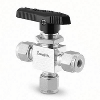 "SS 1-Piece 40G Series 3-way Ball Valve 1/16""  Tube Fittings"
