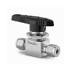 On-off (2 way) ball valve, 6mm, stainl. steel