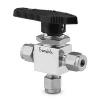 Ball valve stainl. st. 3-way 40G series 6mm tube