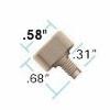 Fingertight III 10-32  Fitting w. Ferrule