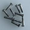 "VICI Nut 1/16"", 19mm long, SS, 10/pk"